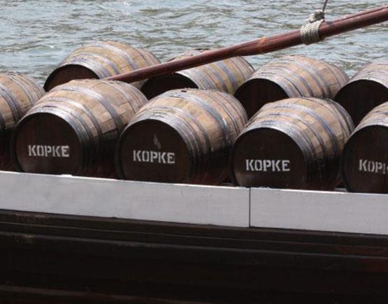 barrels on boat
