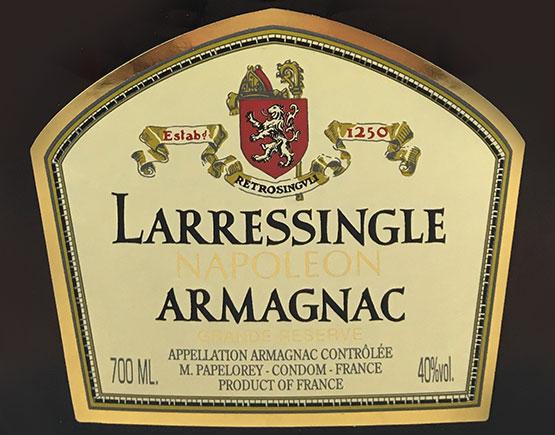 Old-Liqours-Armagnac-Larressingle-label