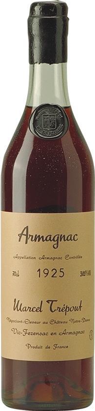 Armagnac 1925 Marcel Trépout 70cl (3466)