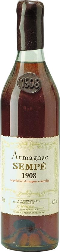 Armagnac 1908 Sempé,  Bottled in the 1980's (3627)