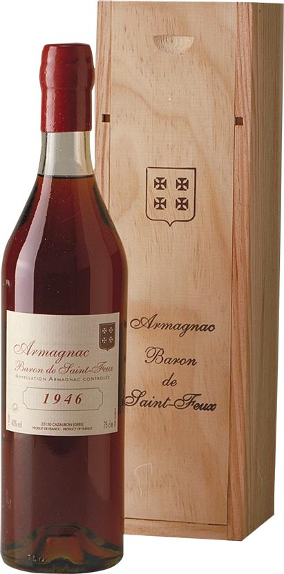 Armagnac 1946 Baron de Saint-Feux (3772)