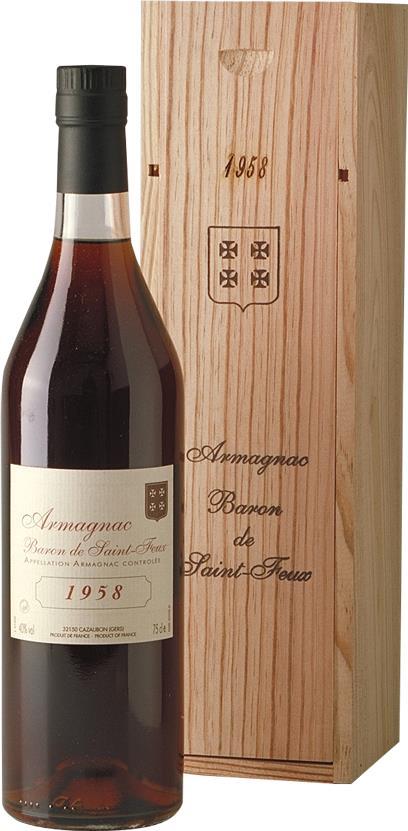Armagnac 1958 Baron de Saint-Feux (3801)