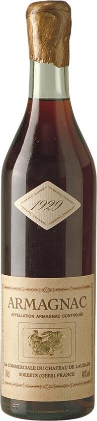 Armagnac 1929 Château de Laubade (3849)
