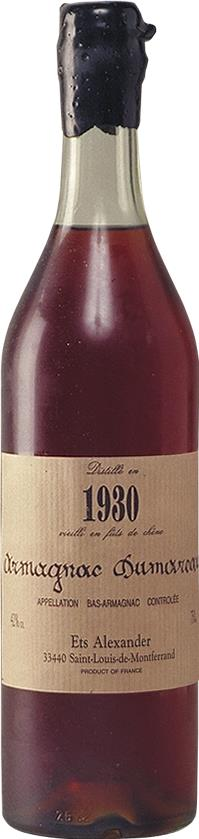 Armagnac 1930 Dumoureau (4423)