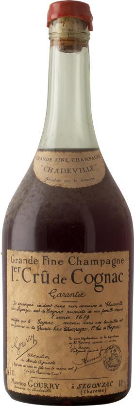 Cognac 1940s Gourry de Chadeville Grande Fine Champagne (6260)