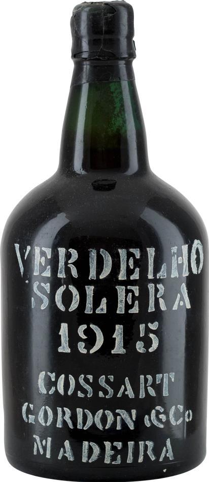 Madeira 1915 Cossart Gordon & Co Solera