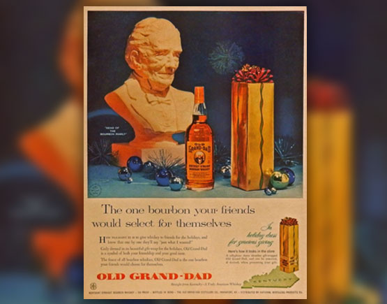 Old Grand Dad Bourbon 1960s